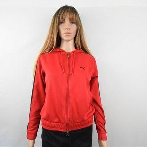 Red Puma Jacket Sweater Sweatshirt Hoodie Medium